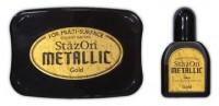 permanentes Stempelkissen für besondere und glatte Untergründe - gold