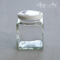 Marmeladenglas mit Deckel, eckig - 50 ml