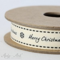 Webband Merry Christmas - schwarz
