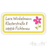 personalisierte Namensaufkleber Mädchen