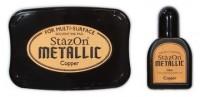 permanentes Stempelkissen für besondere und glatte Untergründe - kupfer