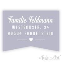 Adressaufkleber Fähnchen - Modern I