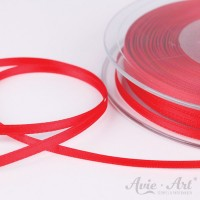 Satinband Double Face 3 mm - rot