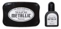 permanentes Stempelkissen für besondere und glatte Untergründe - platin