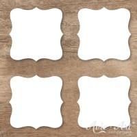 Naturpapier - Aufkleber Label 45mm - weiß