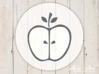 kleiner Motivstempel mit Apfel - Obstmotiv