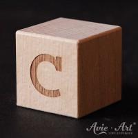 Holzwürfel Buchstabe C