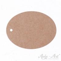 Papieranhänger oval braun 45 x 60 mm mit glattem Rand