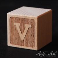 Buchstabenwürfel graviert V