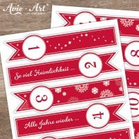 Verschlussetiketten Adventskalender Weihnachtslieder