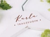Kleiderbügel mit Namen - personalisierter Kleiderbügel zur Hochzeit für Trauzeugen & Blumenkinder