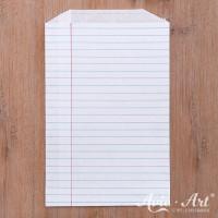 Papiertüten Notebook (25 Stück), lebensmittelecht - 128 x 192 mm