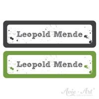 Namensaufkleber für Stifte in 2 Farben - schwarz und grün