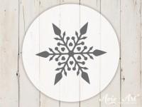 kleiner Motivstempel mit Schneeflocke - Wintermotiv