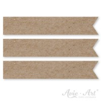 Papierfähnchen aus Naturpapier - 15 x 80 mm