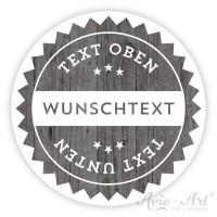 Aufkleber wood Holzoptik - mit Wunschtext